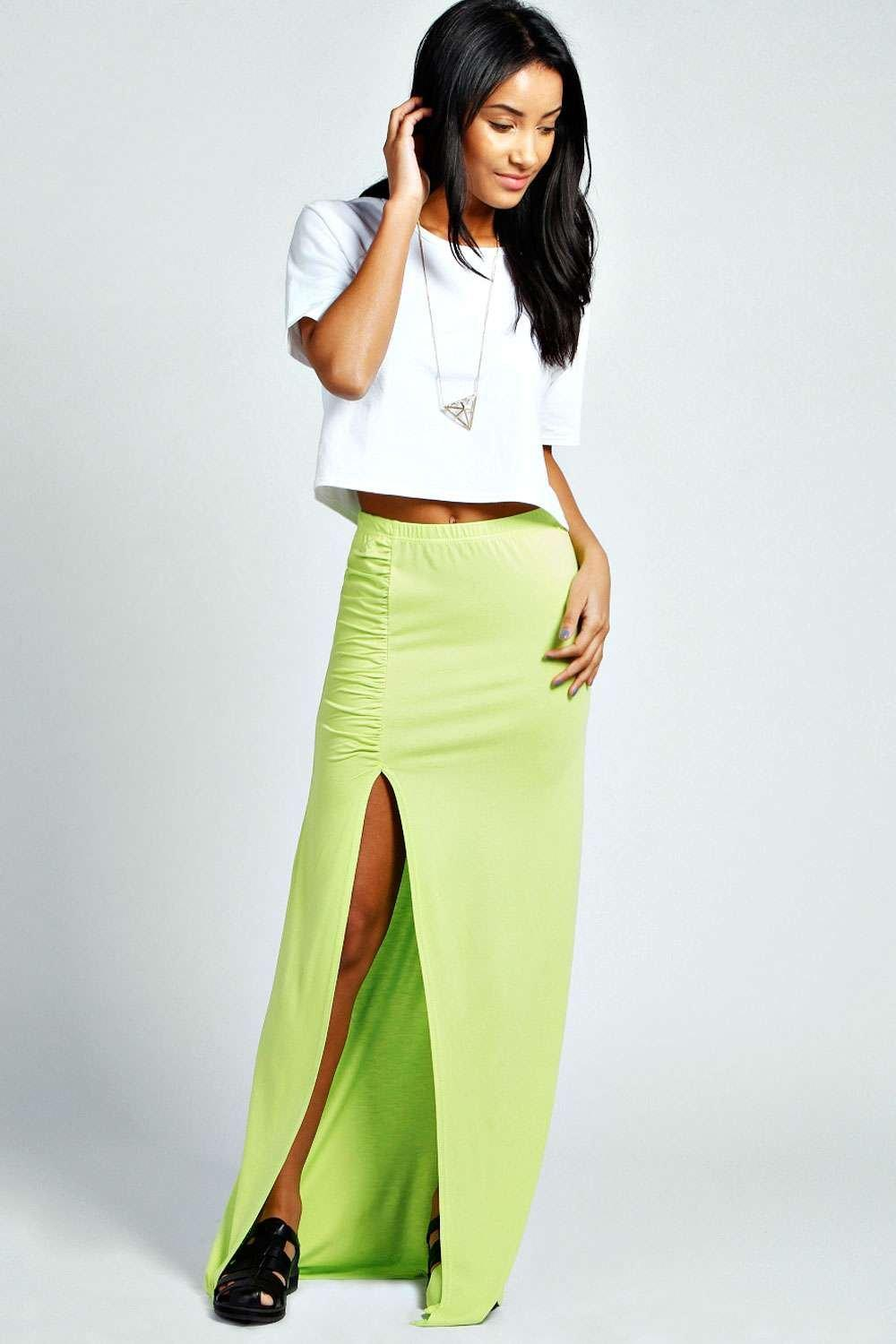 Petite Ria Ruched Top Jersey Maxi Skirt