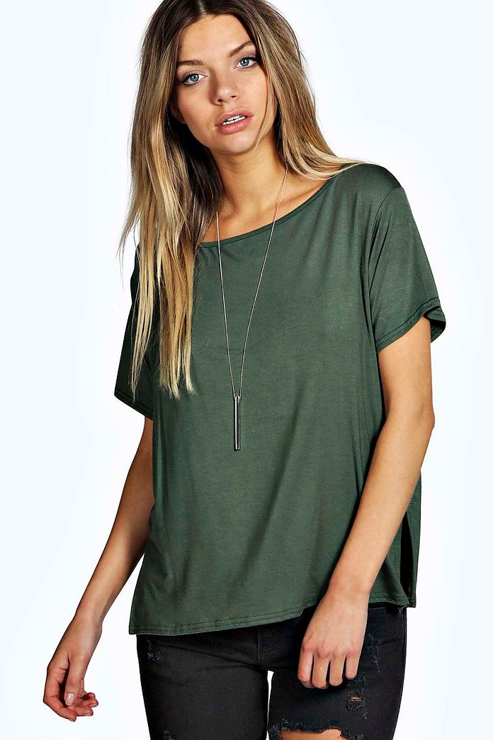 Holly Slash Neck Oversized Tee