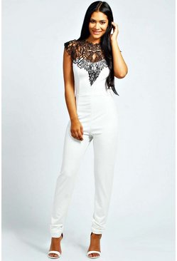 Beth Caged Neck Sleeveless Jumpsuit