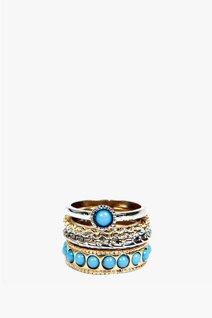 Carrie Multi Stone Stacking Ring Set