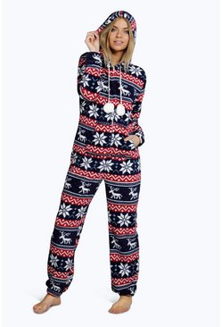 Louisa Large Fairisle Pom Pom Trim Onesie