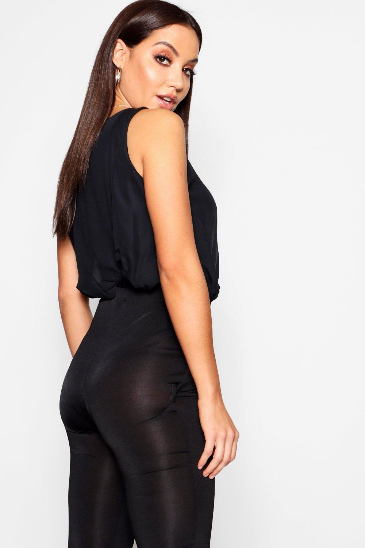 boohoo womens ladies victoria chiffon top bodysuit sleeveless body top crew neck ebay. Black Bedroom Furniture Sets. Home Design Ideas