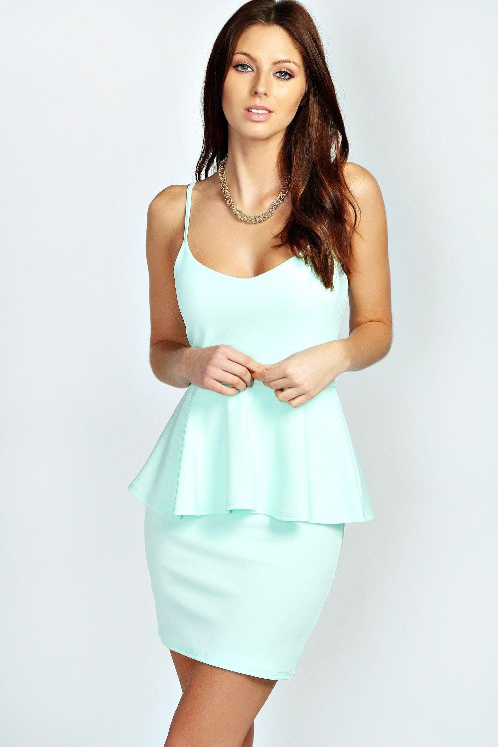 Adele Strappy Peplum Dress