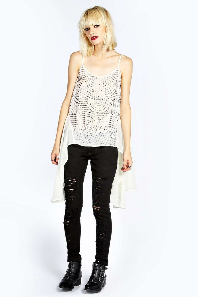 Boutique Leanne Sequin Front Cami