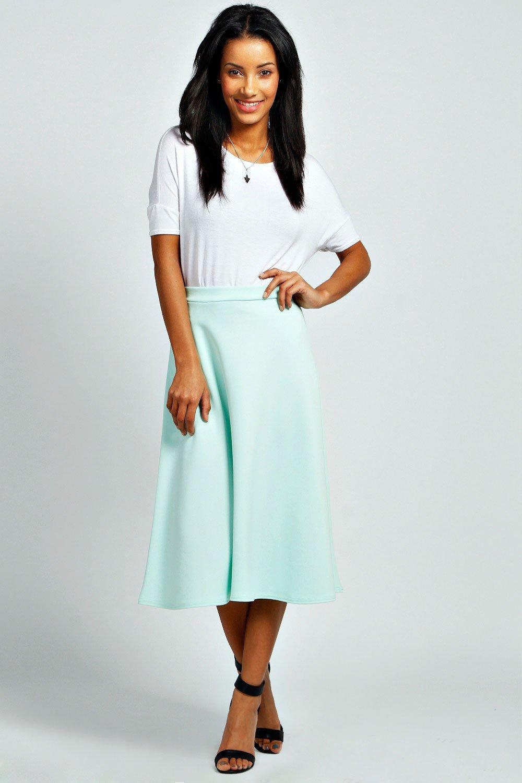 Full Circle Midi Skirt mint