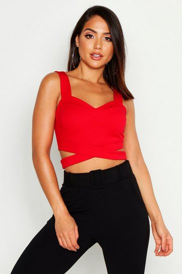 Red Cut Out Bralet