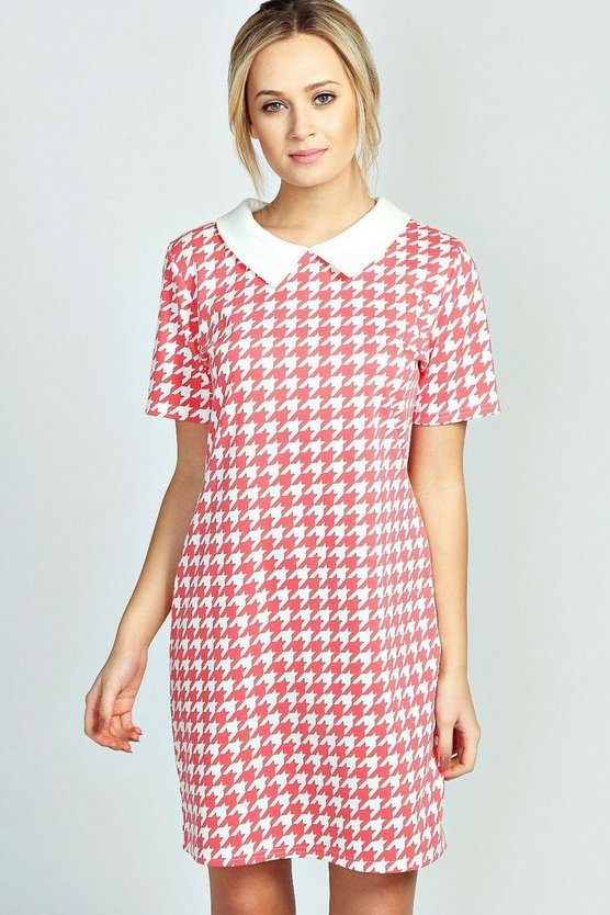Alex Dogtooth Collar Dress