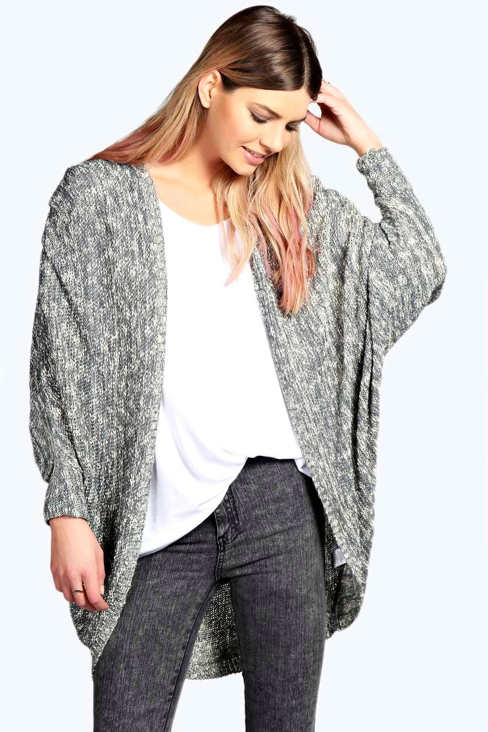 Olia Oversized Slub Knit Cardigan