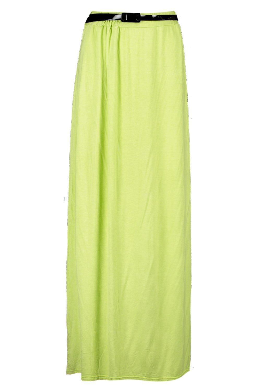 boohoo womens viscose jersey belted maxi skirt