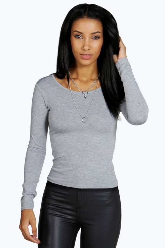 Nancy Round Neck Long Sleeve Top