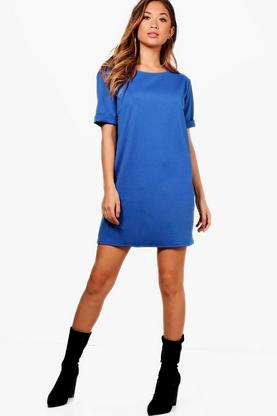 Scarlett Roll Back Ponte Shift Dress