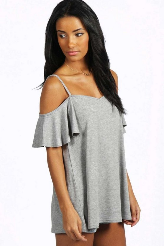 Lola Frill Cold Shoulder Swing Top