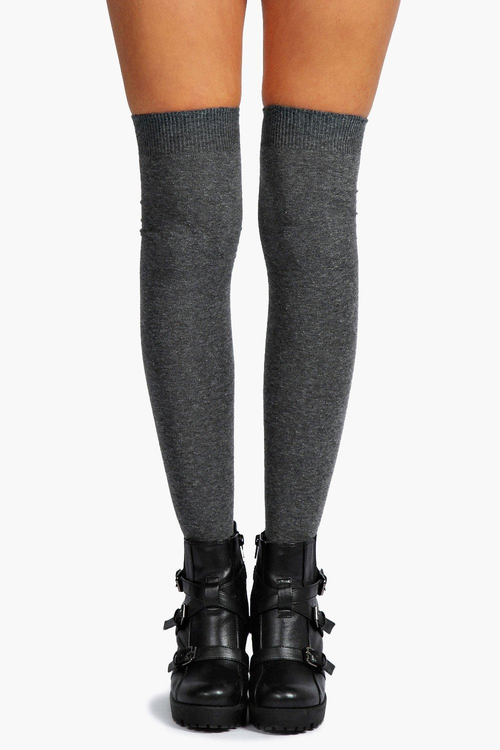 Knee High Socks  grey