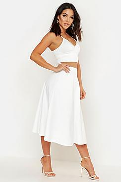 Arianna Plain Full Circle Midi Skirt