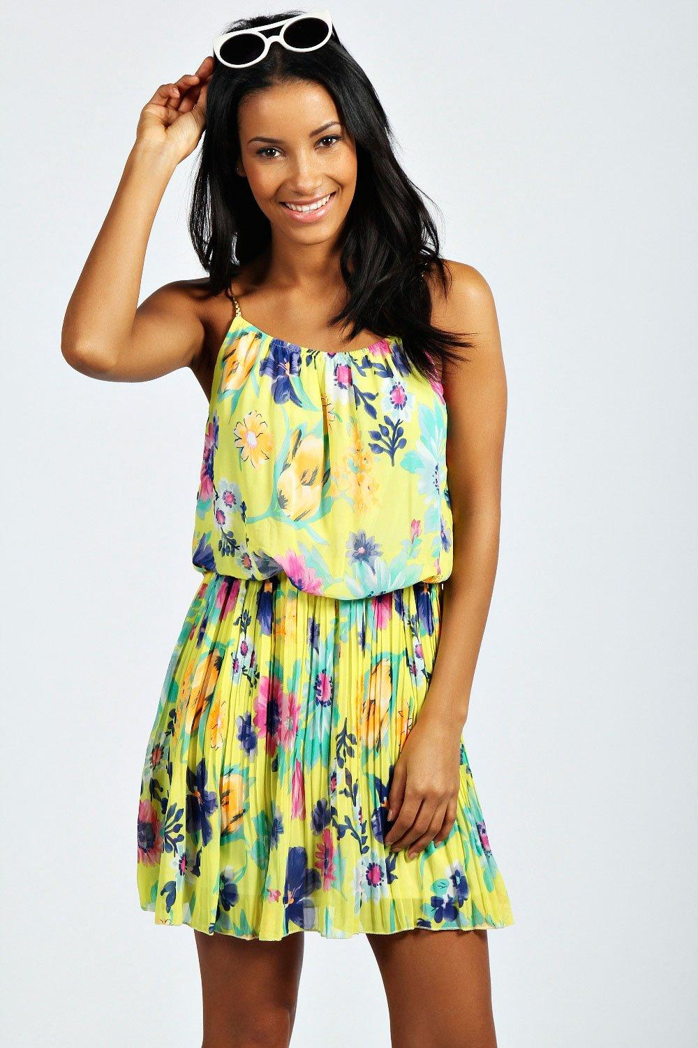Lori Plaited Strap Floral Sundress