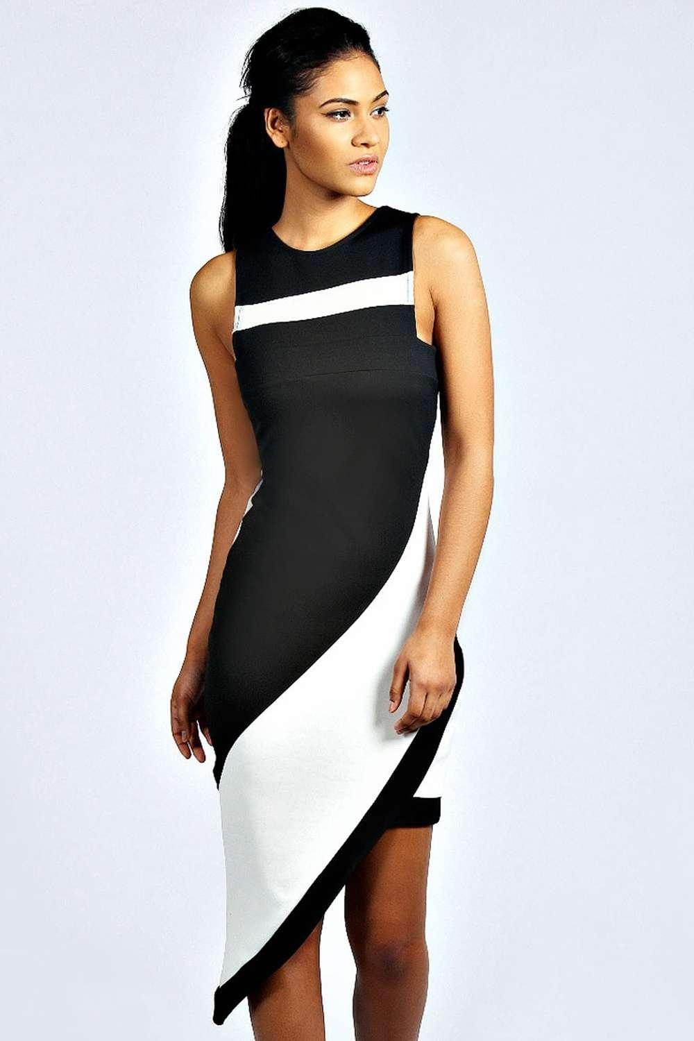 Annabelle Asymmetric Monochrome Dress