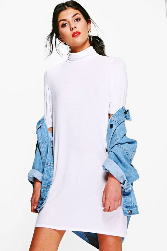 Debi Turtle Neck T Shirt Dress