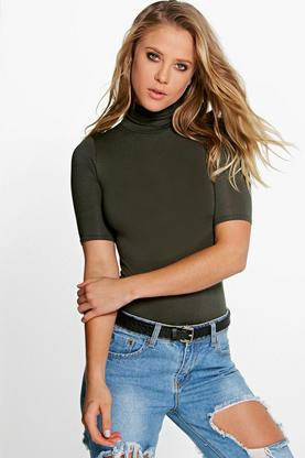 Lara Turtle Neck Short Sleeved Top