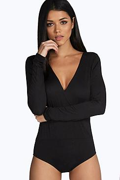 Amy Basic Wrap Front Bodysuit