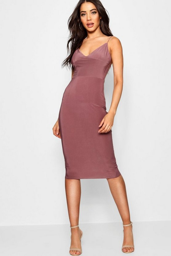 Slinky Bodycon Midi Dress