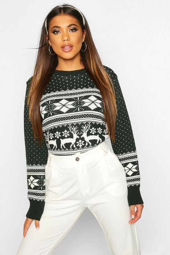 Reindeer Fairisle Christmas Jumper