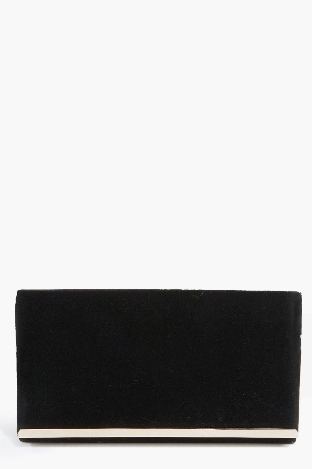 Louisa Rectangular Metal Trim Clutch