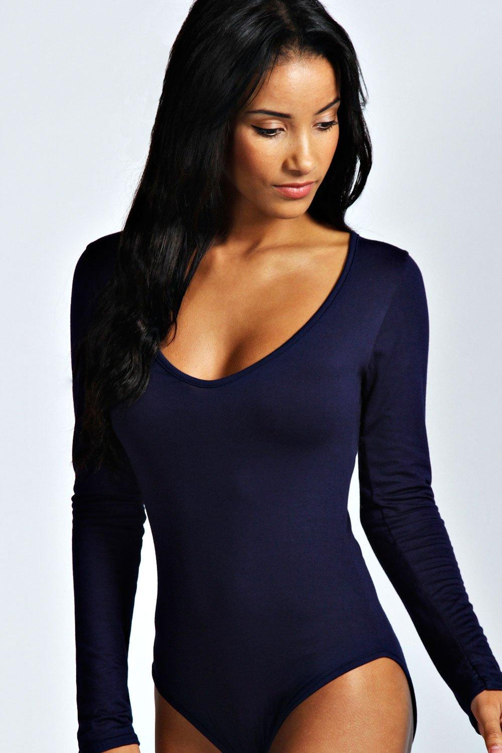 Jennie Long Sleeve V Neck Bodysuit