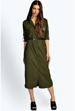 Diana Midi Belted Shirt Dress