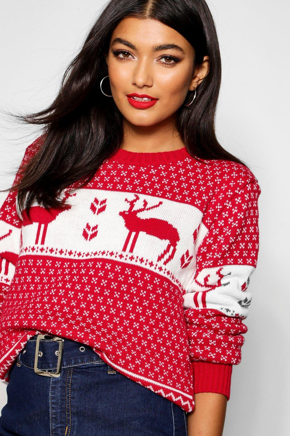 Simone Snowflake and Reindeer Knitted Jumper
