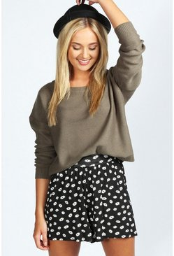 Anabelle Daisy Print Jersey Culottes