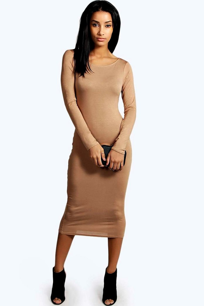 Susan Long Sleeve Midi Dress