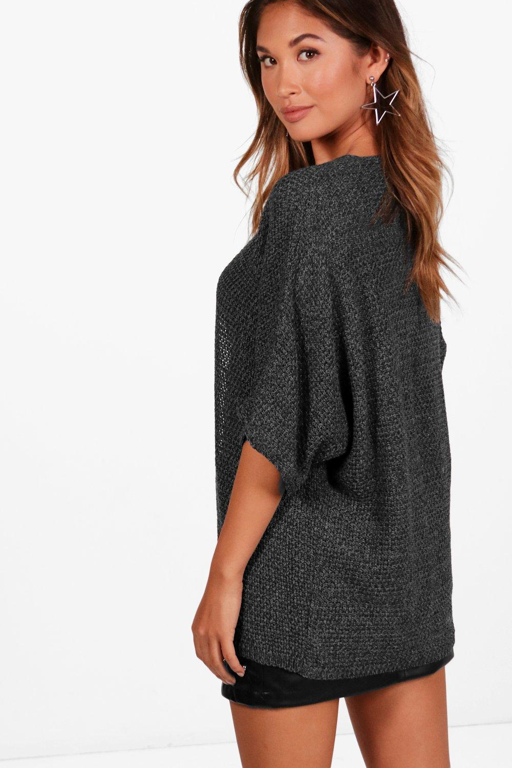 Boohoo Womens Ladies Lucy Loose Knit Batwing Cardigan