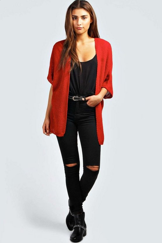 Lucy Loose Knit Batwing Cardigan