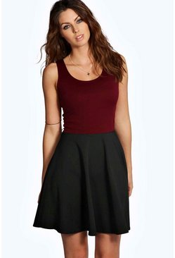 Sally Contrast Skater Dress