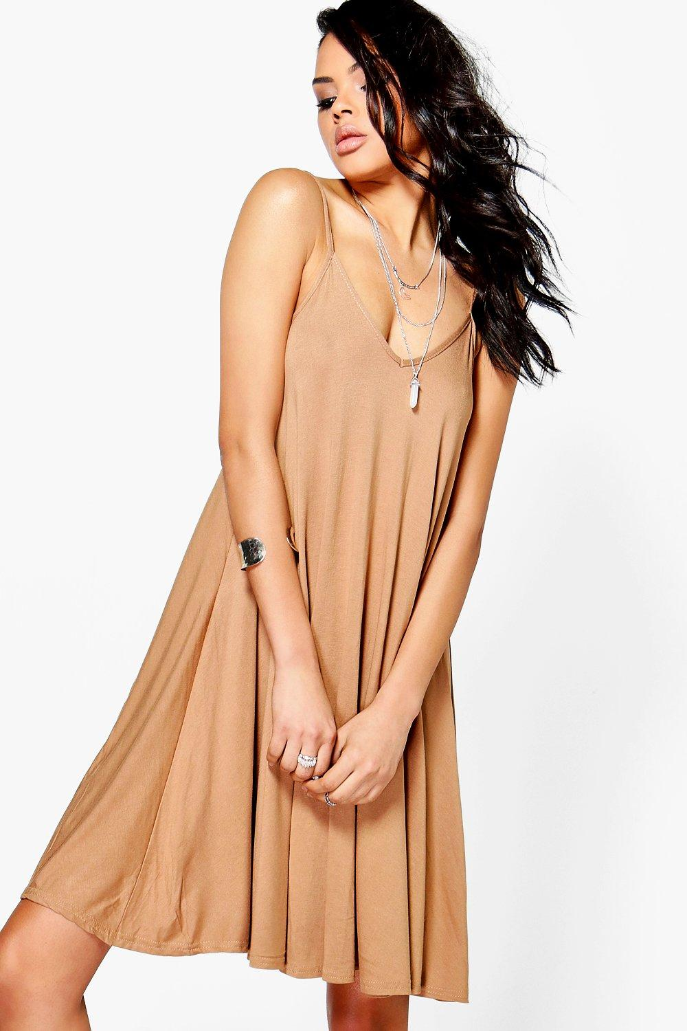 Swing Dress camel