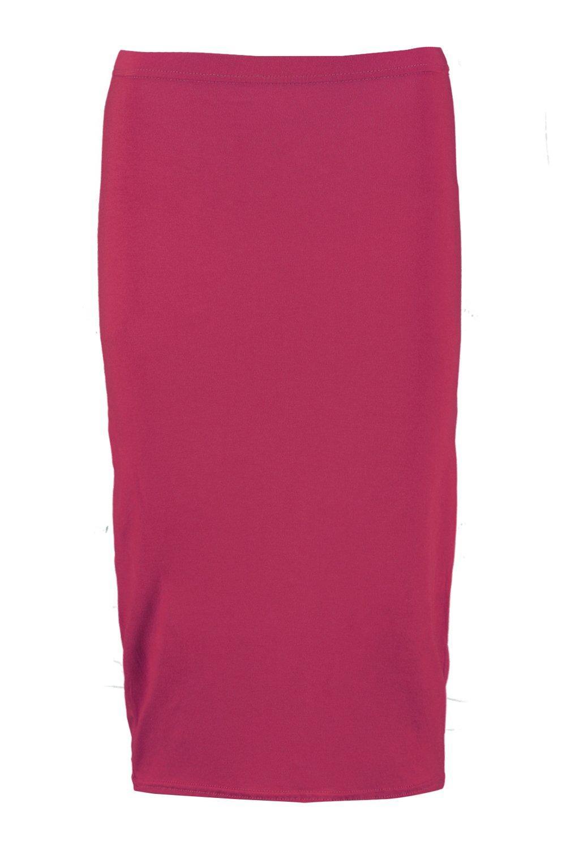boohoo womens midi jersey skirt