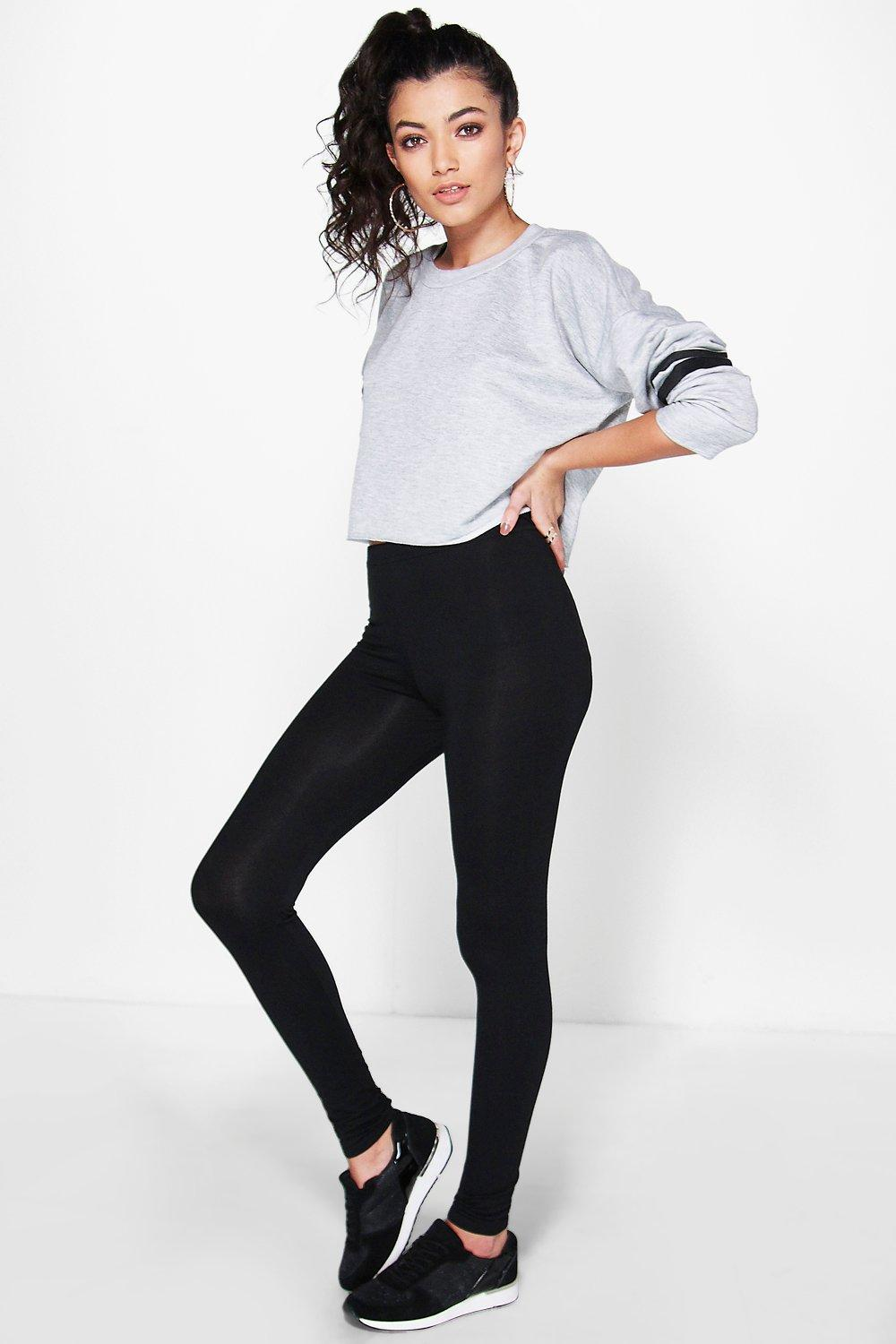 Annie Basic Jersey Leggings black