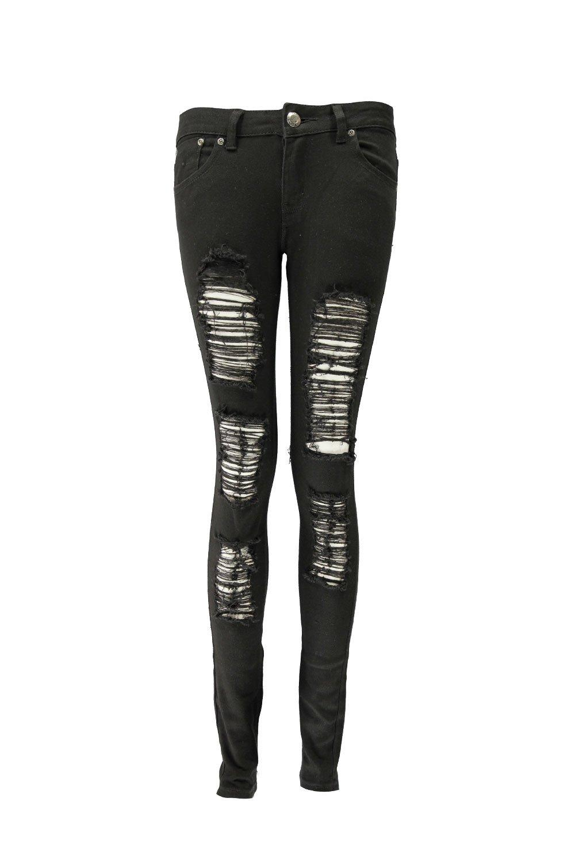 Black Ripped Skinny Jeans - Xtellar Jeans