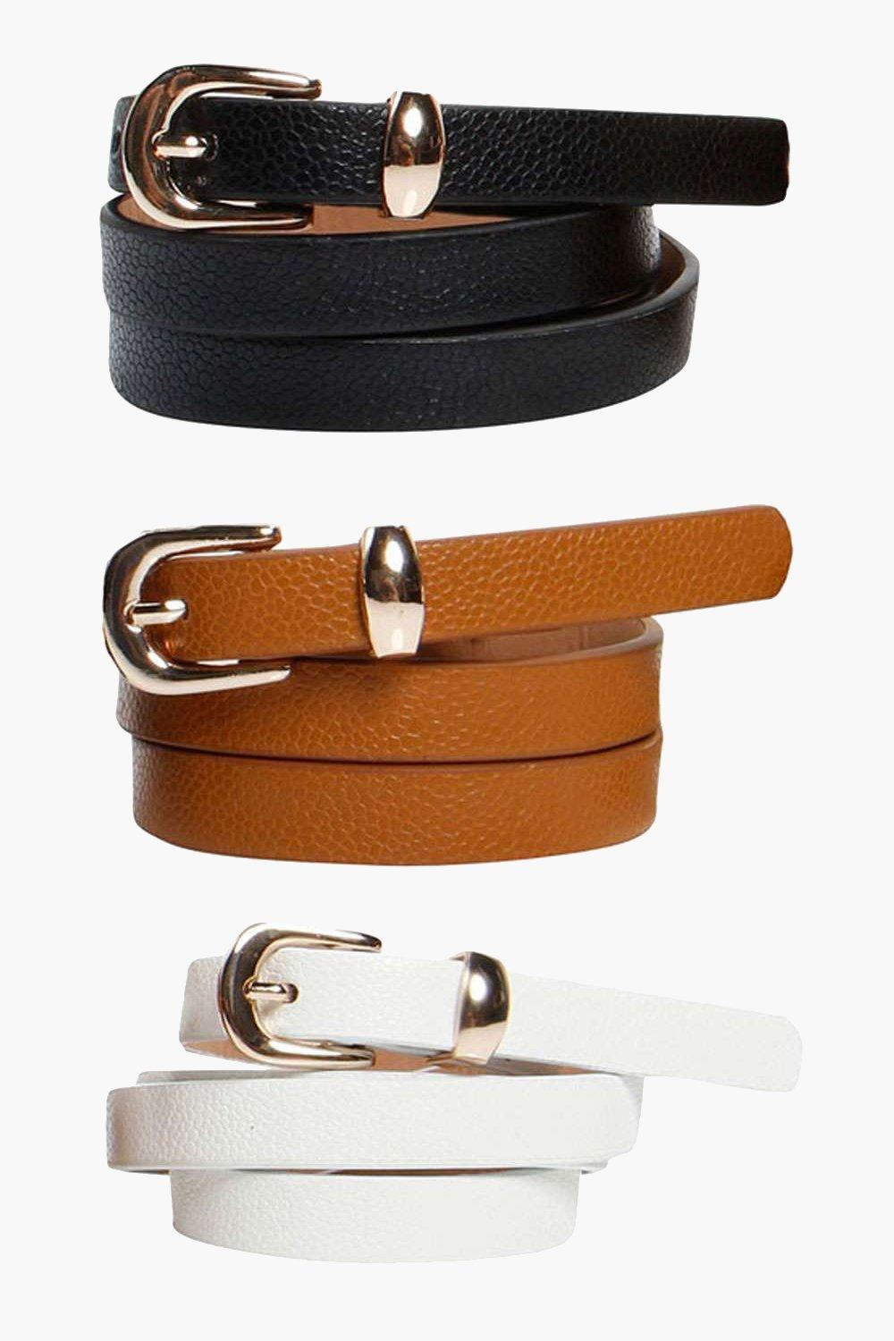 Skinny Belts Pack Of Three - multi - Customise you