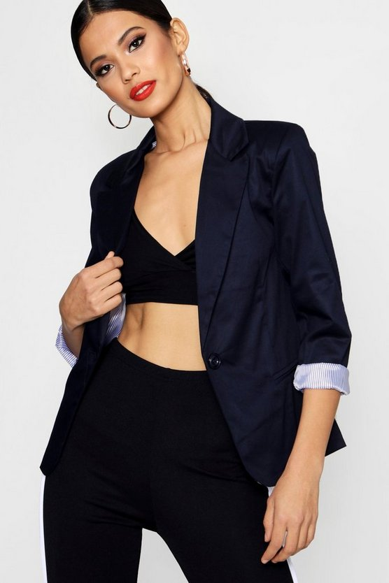 Jade Colour Block Blazer
