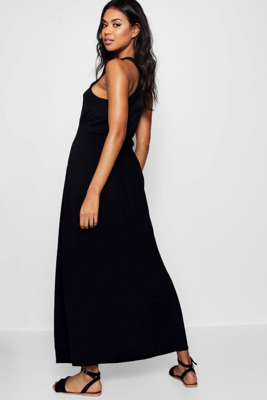 Boohoo Womens Alice Racer Back Maxi Dress | eBay