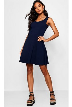 Sara Seam Detail Skater Dress