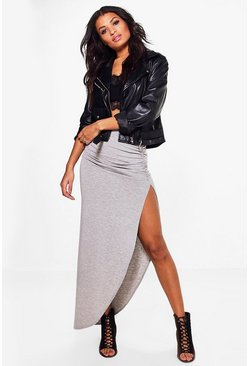 Michelle Ruched Side Jersey Maxi Skirt