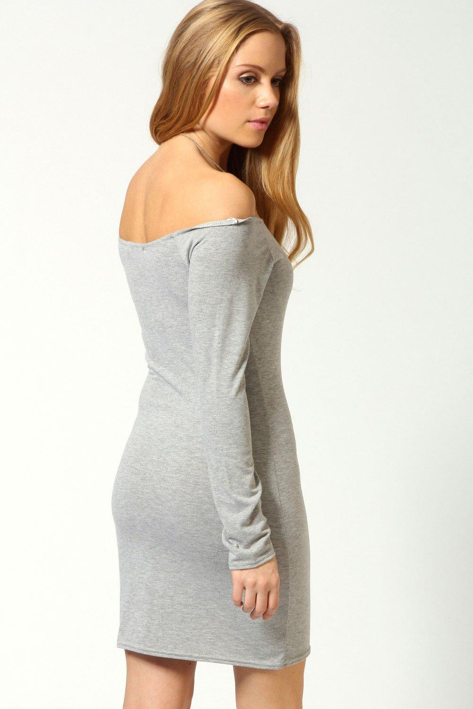 Turmec » long sleeve white bodycon dress xl