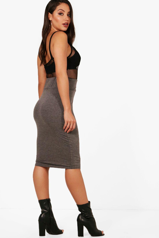 boohoo womens maddie jersey midi length skirt ebay