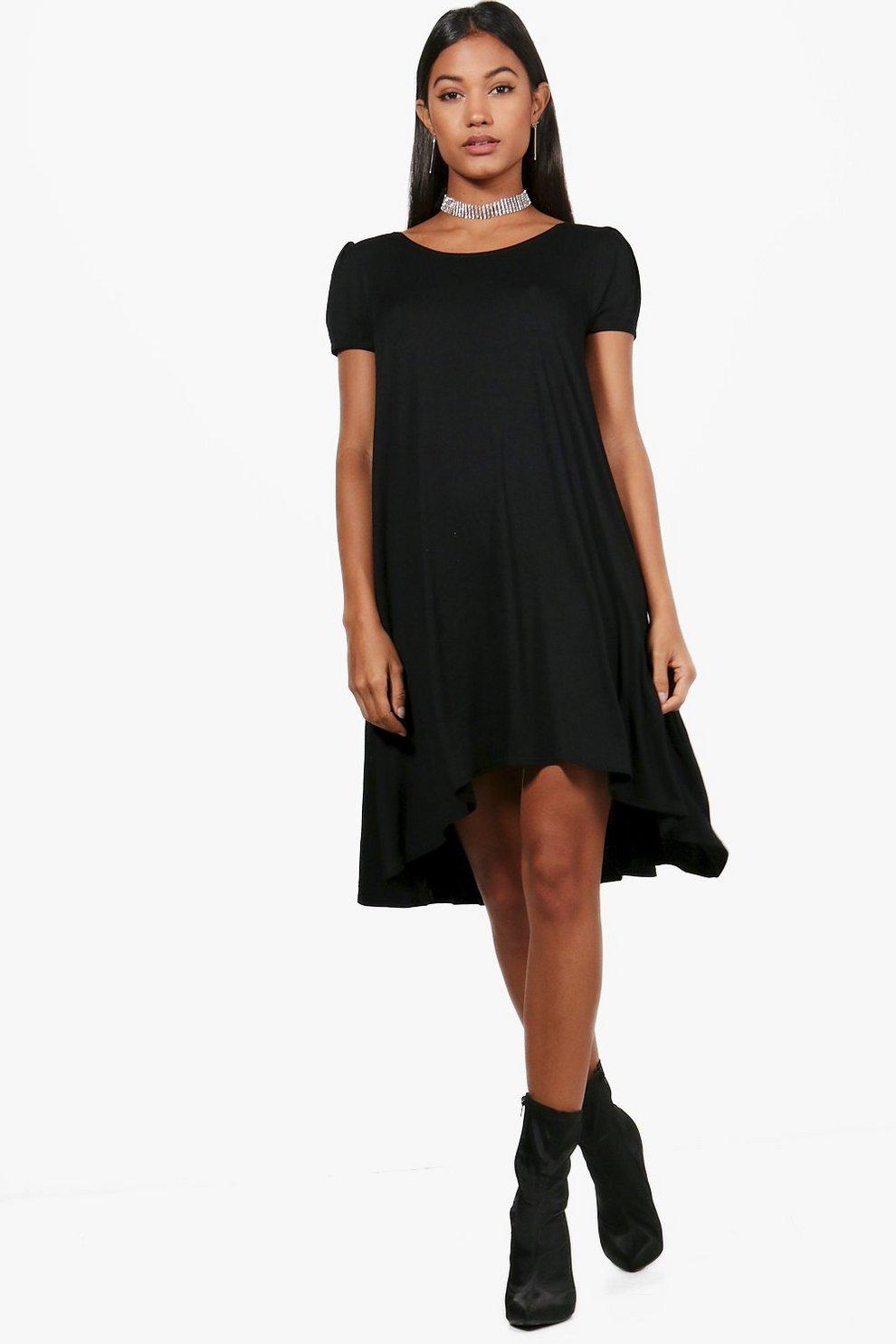 Selma Short Sleeve Jersey Swing Dress