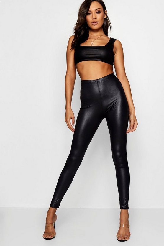 Leggings Nass-Look