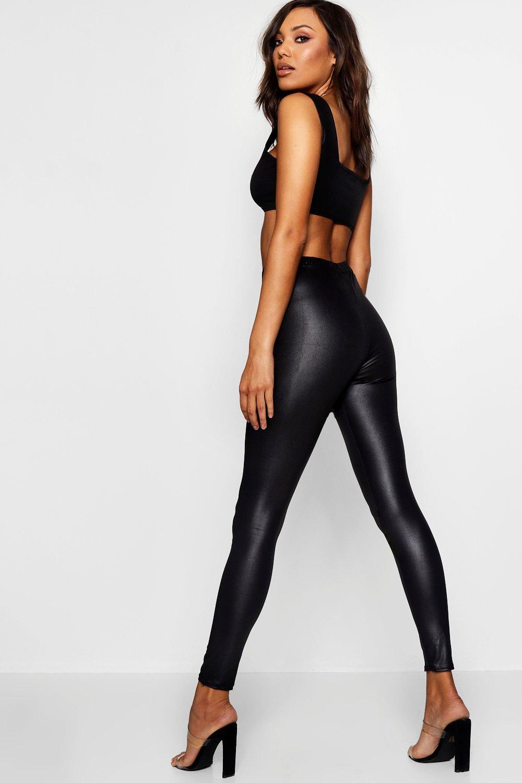 Boohoo Womens Carly Wet Look Leggings