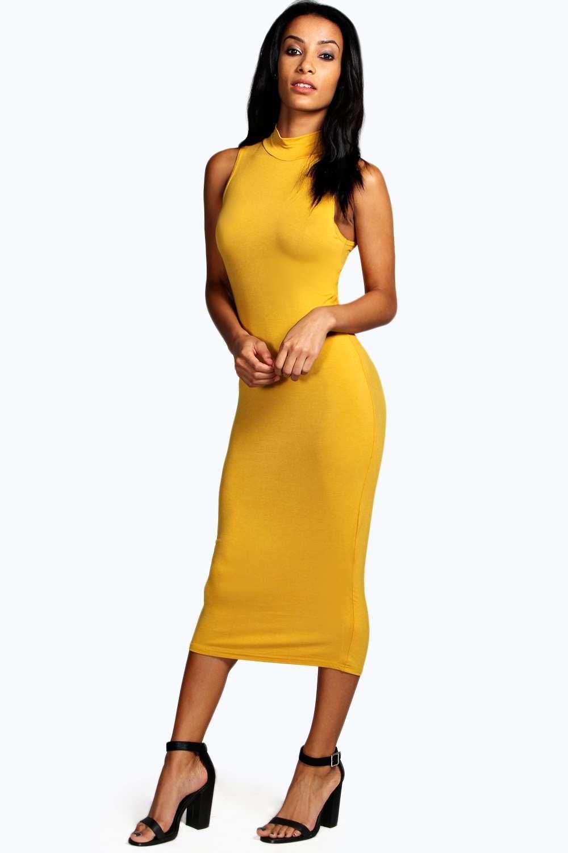 Yellow bodycon tube dress