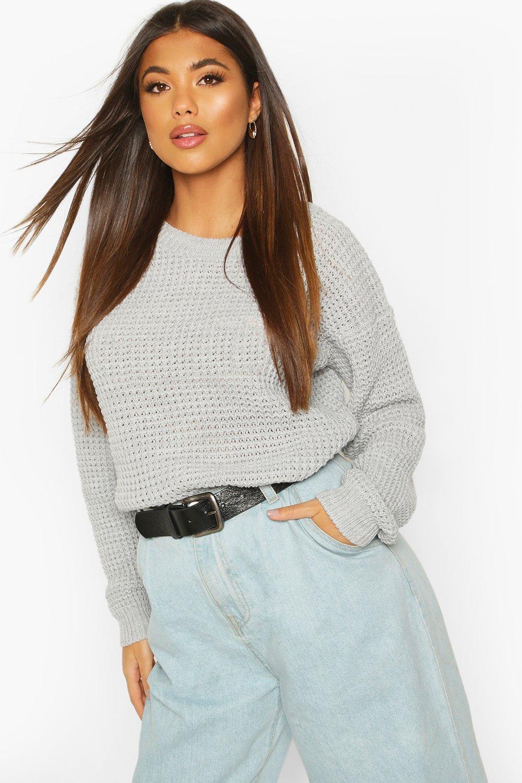 Womens Oversized Vintage-Pullover - grau - S, Grau - Boohoo.com